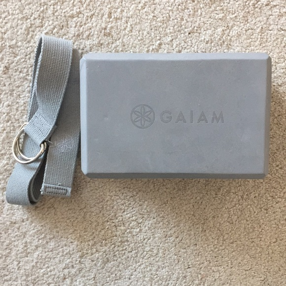 Gaiam Other 420 Yoga Block And Strap Poshmark